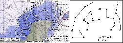 Flight Date: July 23, 2005; NOAA42; flight track and drop pattern
