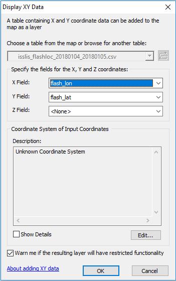 ISS LIS Lightning Flash Location Quickview using Python 3 0