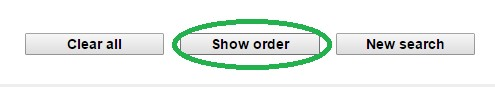 """Image showing the """"Show order"""" HyDRO system button"""