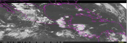 GOES image. Central America