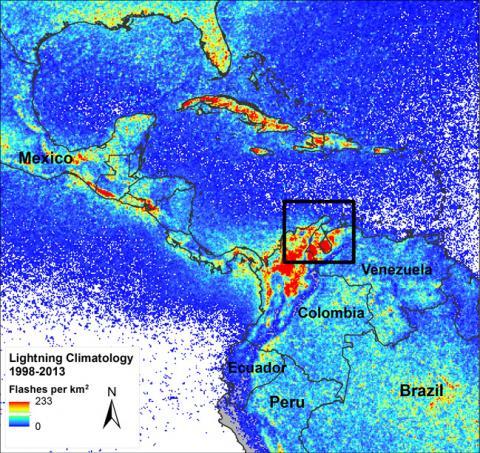 LIS VHRC revealing Earth's new lightning hotspot - Lake Maracaibo, Venezuela