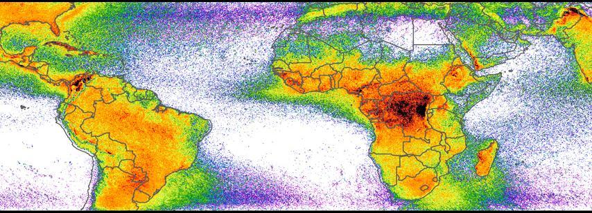LIS Very High Resolution Gridded Lightning Climatology Data Sets